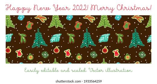 Seamless christmas pattern. Raster copy
