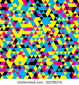 Seamless CMYK poster design background