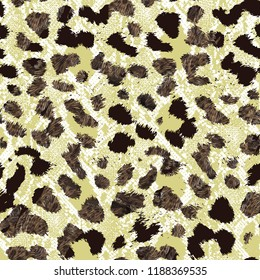 Seamless and Colored Camouflage Repeat Pattern