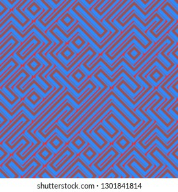 Seamless colorful maze pattern
