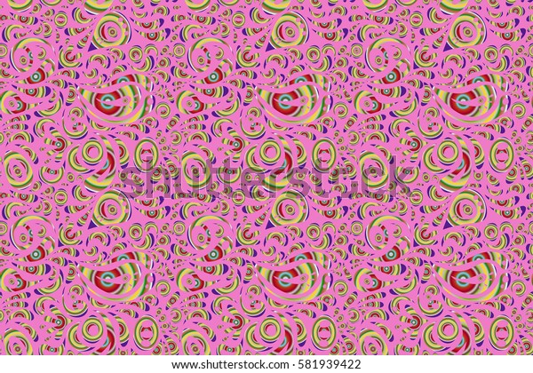 Seamless damask pattern, classic wallpaper, background. Ornamental patter in neutral, red and green colors.
