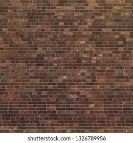 Seamless Dark Brown Brick Texture