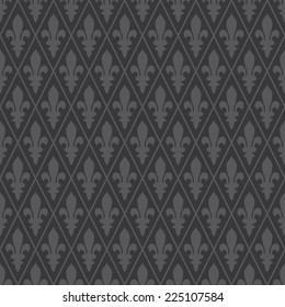 Seamless dark gray medieval diamond pattern