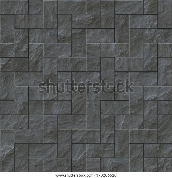 . Seamless Dark Stone Brick Texture Illustration Stock Illustration