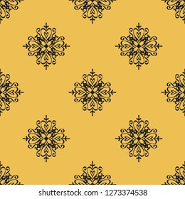Seamless decorative raster pattern with elegant openwork ornament. Abstract background for printing on paper, wallpaper, covers, textiles, fabrics, for decoration, decoupage, scrapbooking and other