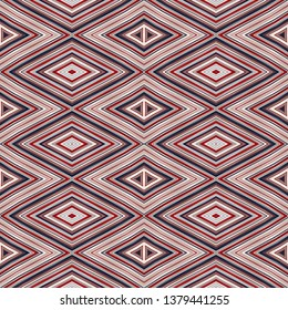 seamless diamond pattern with mauve, light pink, maroon, brown colors. repeating arabesque background for textile fashion, digital printing, postcards or wallpaper design.