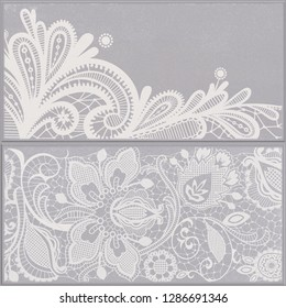Seamless ethnic pattern with natural grey background