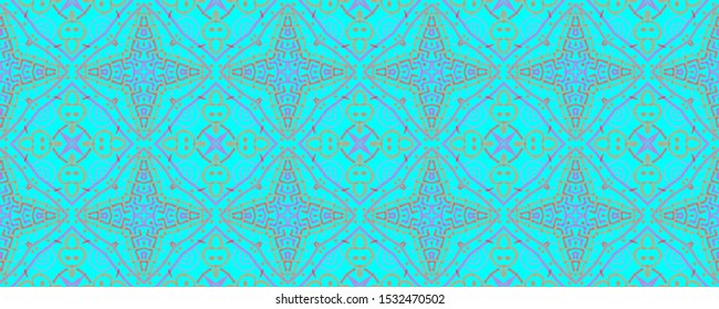 Seamless Ethnic Print. Colorful Motif for Fabric, Textile, Wallpaper. Professional Casual Wave Illustration. Ethnic Endless Ornament. Hand Drawn Seamless Print.