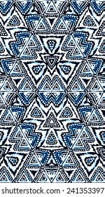 seamless fashion abstract design. tribal pattern. aztec motifs. watercolor hand drawn motifs.