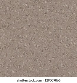 Seamless floral background pattern on paper texture
