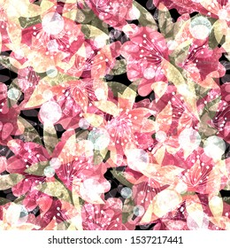 Seamless floral flowers abstract grunge pattern background image