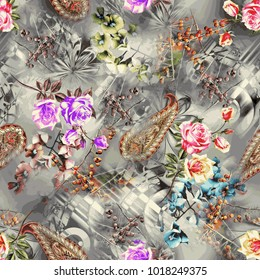 seamless floral pattern with Abstract pattern