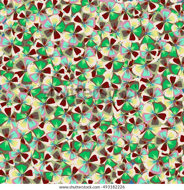 Seamless floral pattern. Abstract floral background. Multicolor seamless flower pattern.