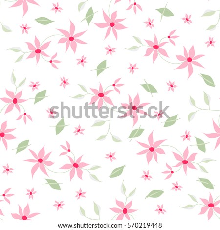 Royalty free stock illustration of seamless floral pattern small seamless floral pattern with small pretty flowers and leaves on white background made with soft pastel mightylinksfo