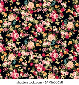Seamless Floral Pattern for Textile Print for printed fabric design for Womenswear, underwear, activewear kidswear and menswear and Decorative Home Design, Wallpaper Print