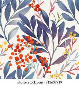 Seamless floral pattern. Vibrant botanical background.