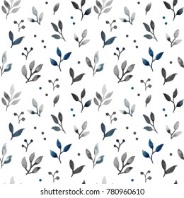 Seamless floral pettern. Watercolor pattern
