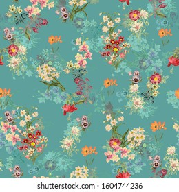 Seamless flower floral texture digital pattern