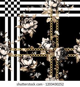 Seamless flower pattern. Silk Scarf
