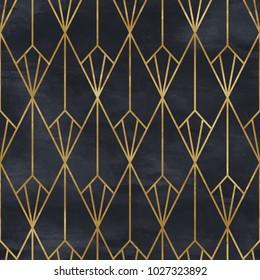 Seamless geometric pattern. Art deco background