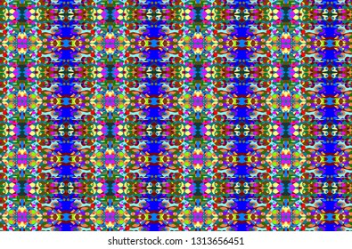 Abstraкt seamless geometric pattern with a in a bright colors for design