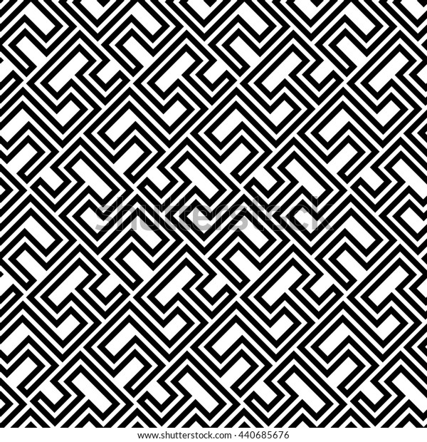 Seamless geometric pattern by stripes. Modern background with repeating lines