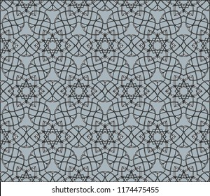 Seamless geometric pattern. With color silver line ornament. Raster illustration. creative design for different backgrounds.