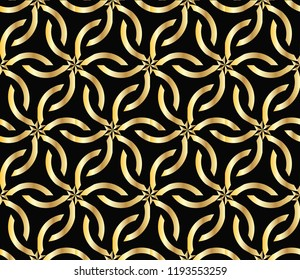Seamless geometric pattern. With gold color line ornament. creative design for different backgrounds. Seamless horizontal borders with repeating line texture.