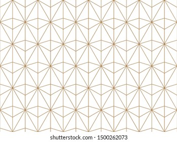 Seamless geometric pattern. Gold linear pattern. Wallpapers for your design.