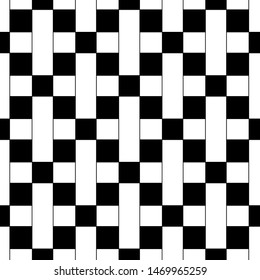 seamless geometric pattern with on black background