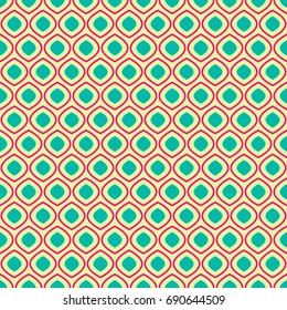 Seamless geometric pattern on light yellow background, illustration for your design