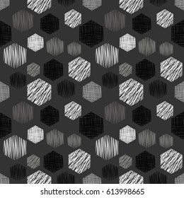 Seamless geometrical pattern with rectangles endless background with hand drawn textured geometric figures. Pastel Graphic illustration Template for wrapping, web backgrounds, wallpaper