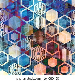 Seamless graphic pattern of repeating geometric polygons
