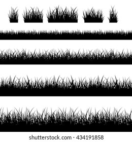 Seamless grass silhouettes