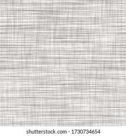 Seamless gray french woven linen texture background. Farmhouse ecru flax hemp fiber natural pattern. Organic yarn close up weave fabric for surface material. Ecru greige cloth textured rough material