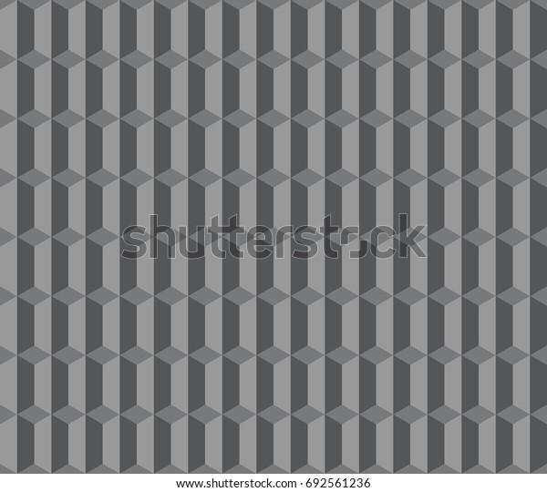 Seamless gray vintage isometric columns pattern