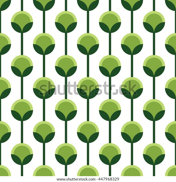 Seamless green and white vintage floral wallpaper pattern