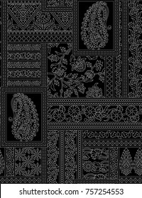 Seamless indian paisley pattern