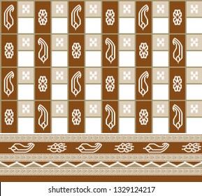 seamless indian patola border design