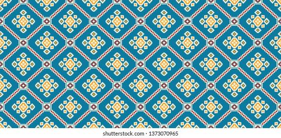seamless indian textile geometric patola design