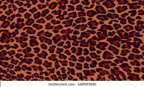 Seamless Leopard Pattern Allover Print Texture Design