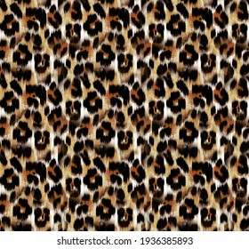 Seamless leopard pattern, animal print.