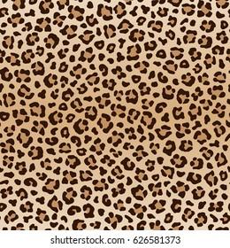 Seamless leopard pattern. Animal print. Raster version