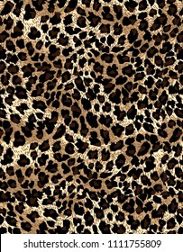 Seamless Leopard Pattern for Textile Print and Hunter Wear