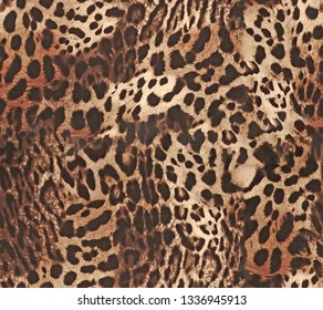 seamless Leopard pattern texture repeating Texture Leopard Fashionable print. Fashion and stylish