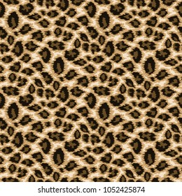 Seamless leopard skin