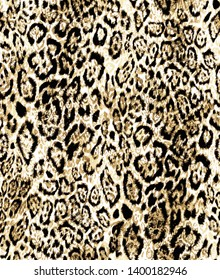 SEAMLESS LEOPARD SKIN ABSTRACT PATTERN.