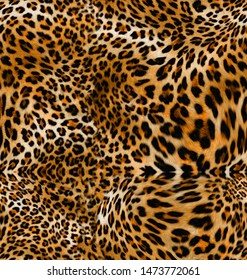 Seamless Leopard Skin Pattern for Textile Print for printed fabric design for Womenswear, underwear, activewear kidswear and menswear and Decorative Home Design, Wallpaper Print
