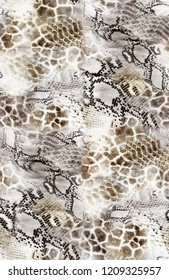 Seamless Leopard and Snake Skin Pattern for Textile Print for printed fabric design for Womenswear, underwear, activewear kidswear and menswear and Decorative Home Design, Wallpaper Print