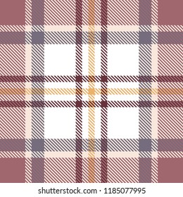 Seamless light tartan plaid pattern. Checkered fabric texture background. Raster copy.